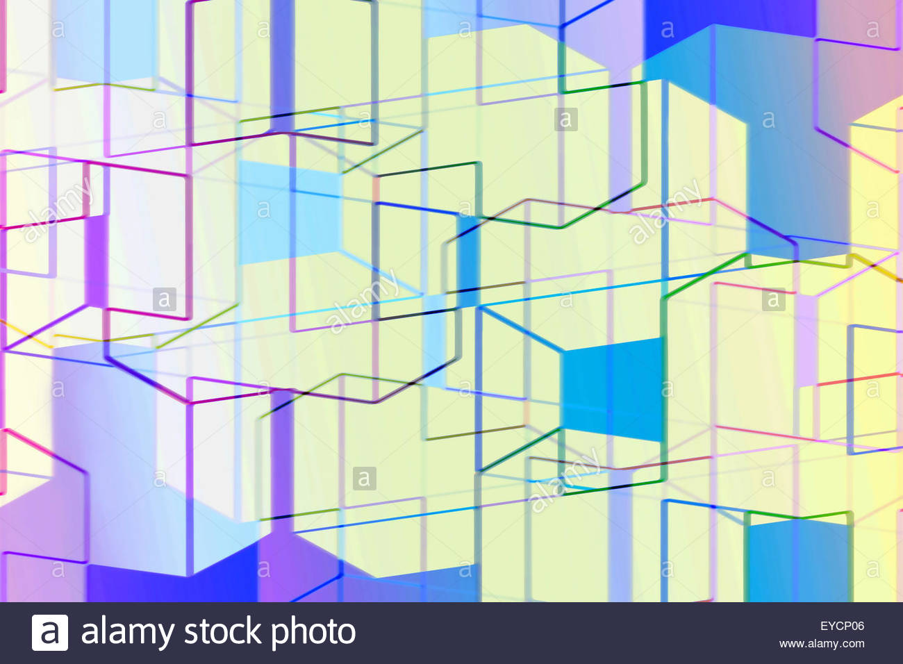 Abstract full frame three dimensional geometric backgrounds pattern Stock Photo