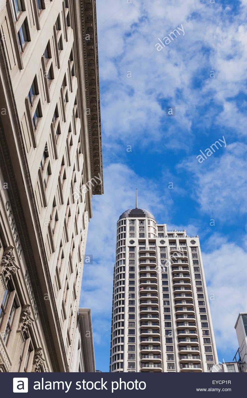 New Zealand, Auckland, view to Metropolis building Stock Photo