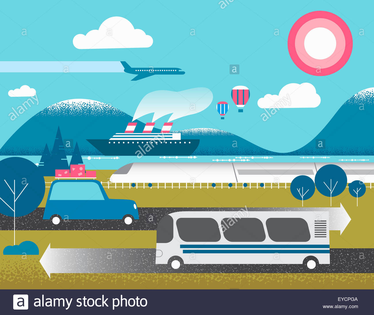 Different forms of transport - Stock Image