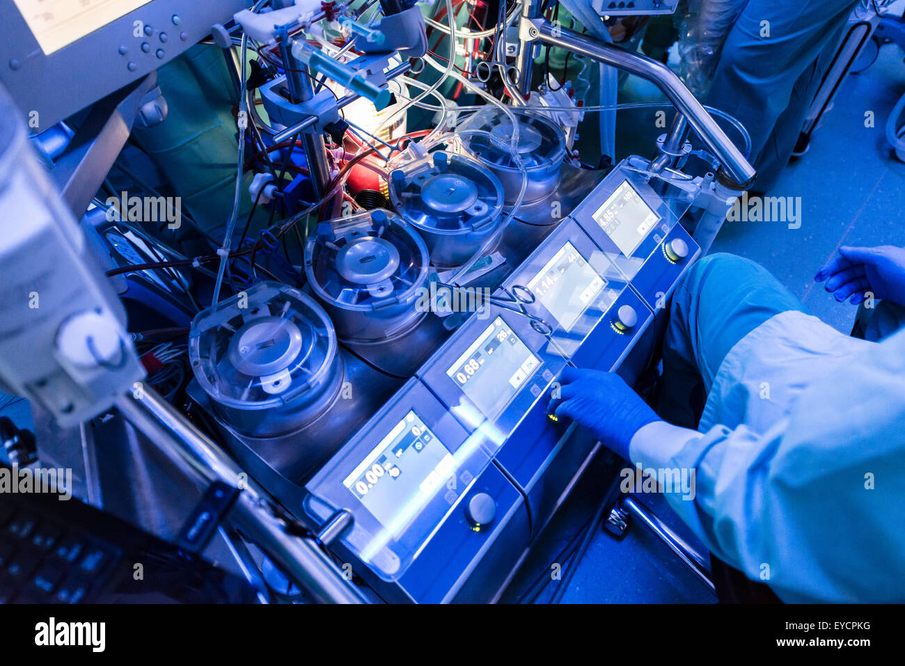 Heart-lung machine - Stock Image