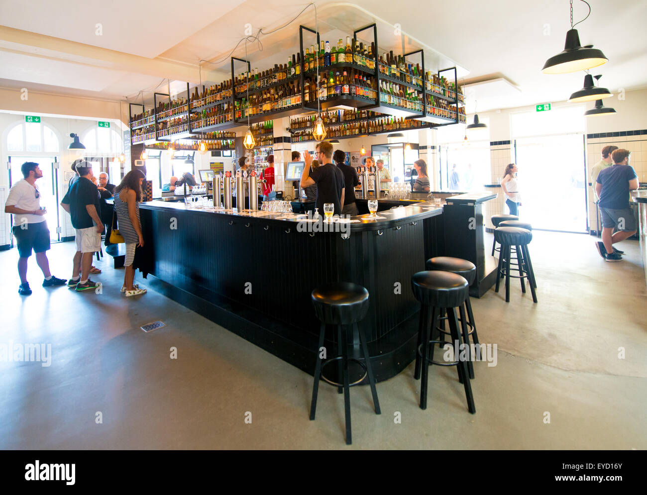 The Brouwerij 't IJ microbrewery in East Amsterdam - Stock Image