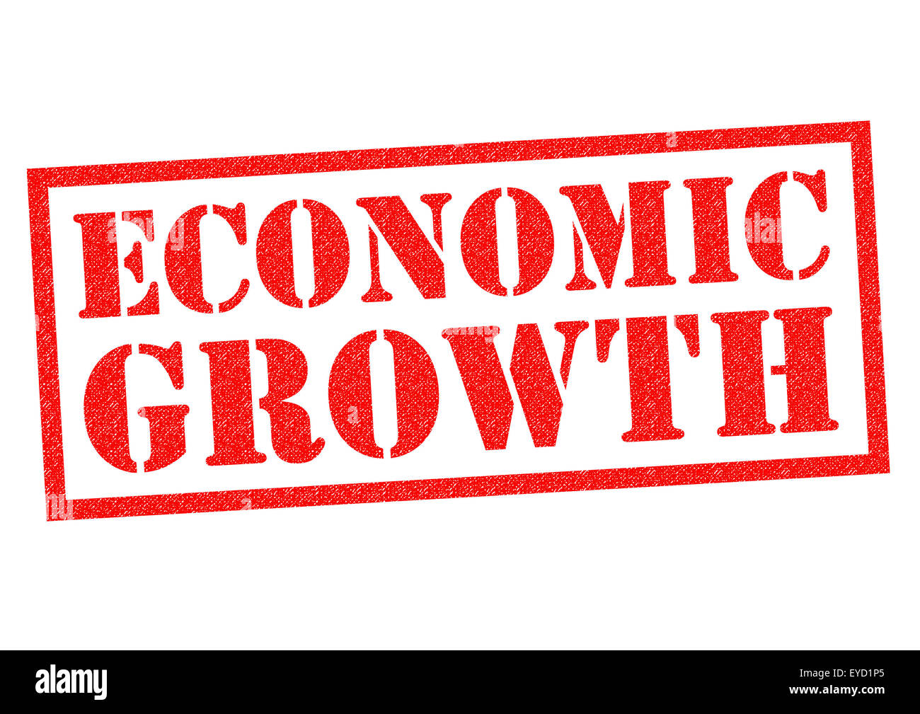 ECONOMIC GROWTH red Rubber Stamp over a white background. - Stock Image