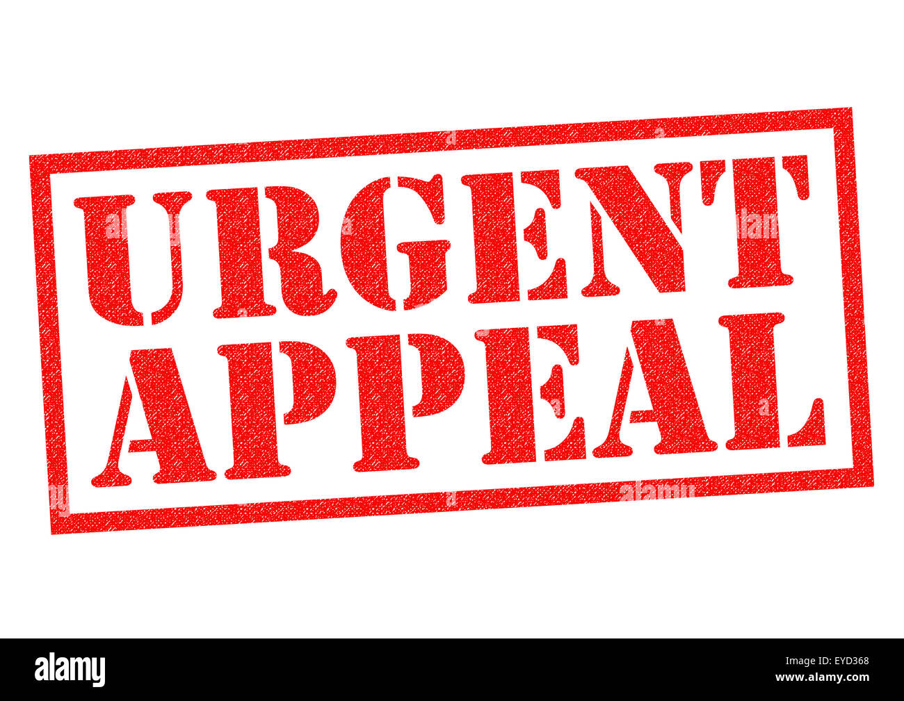 URGENT APPEAL red Rubber Stamp over a white background. - Stock Image