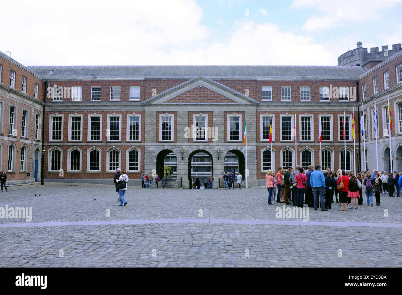 State Apartments in the Dublin Castle upper yard. - Stock Image