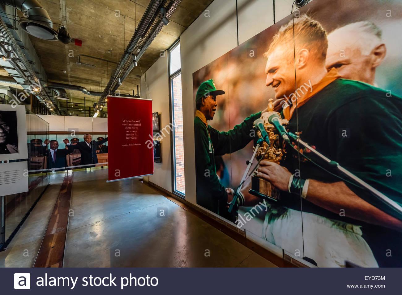 Apartheid Museum, Johannesburg, South Africa. - Stock Image