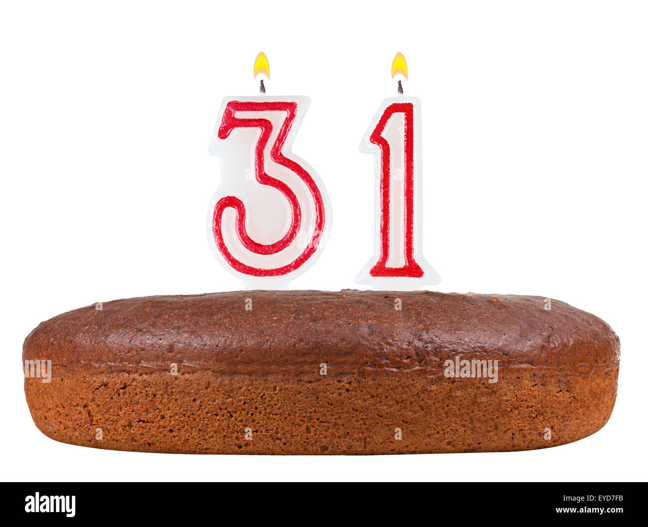 Birthday Cake Candles Number 31 Stock Photos Birthday Cake Candles