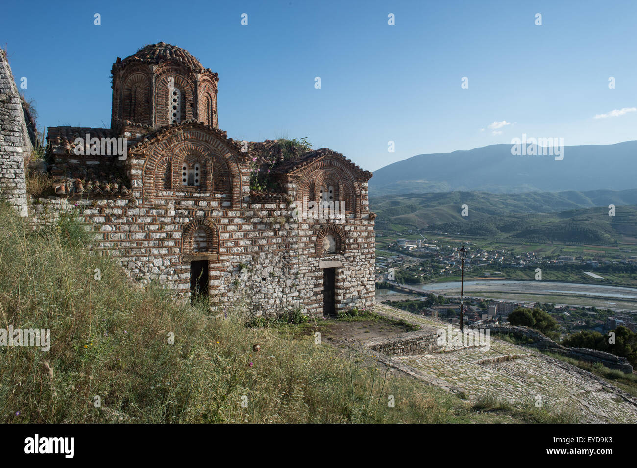 The Church of the Holy Trinity, Citadel of Berat, UNESCO World Heritage List, Albania - Stock Image