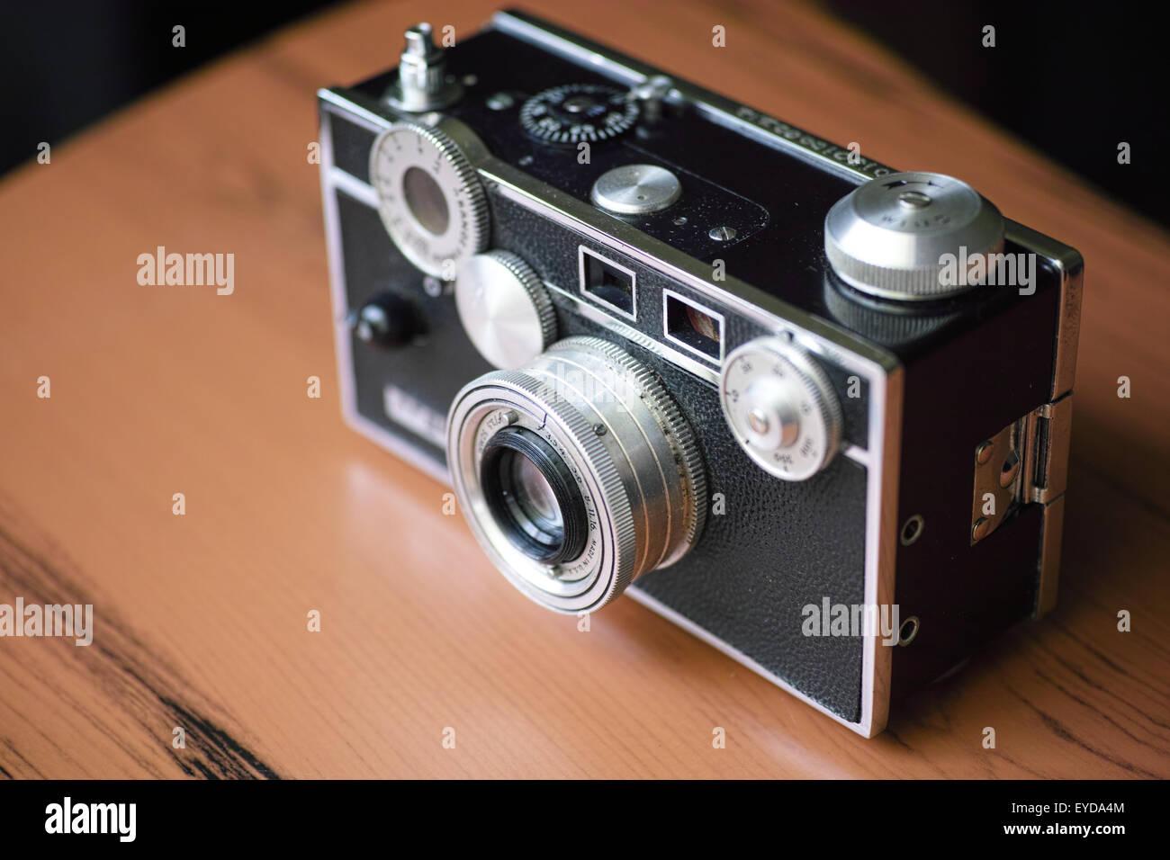 vintage rangefinder camera - Stock Image