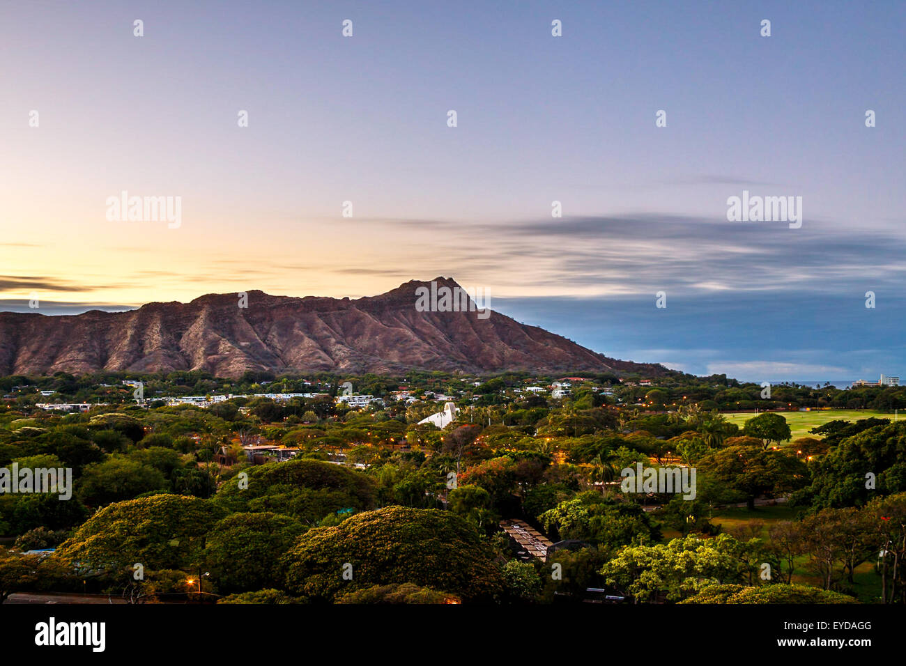 Diamond Head State Monument in Oahu, Hawaii - Stock Image