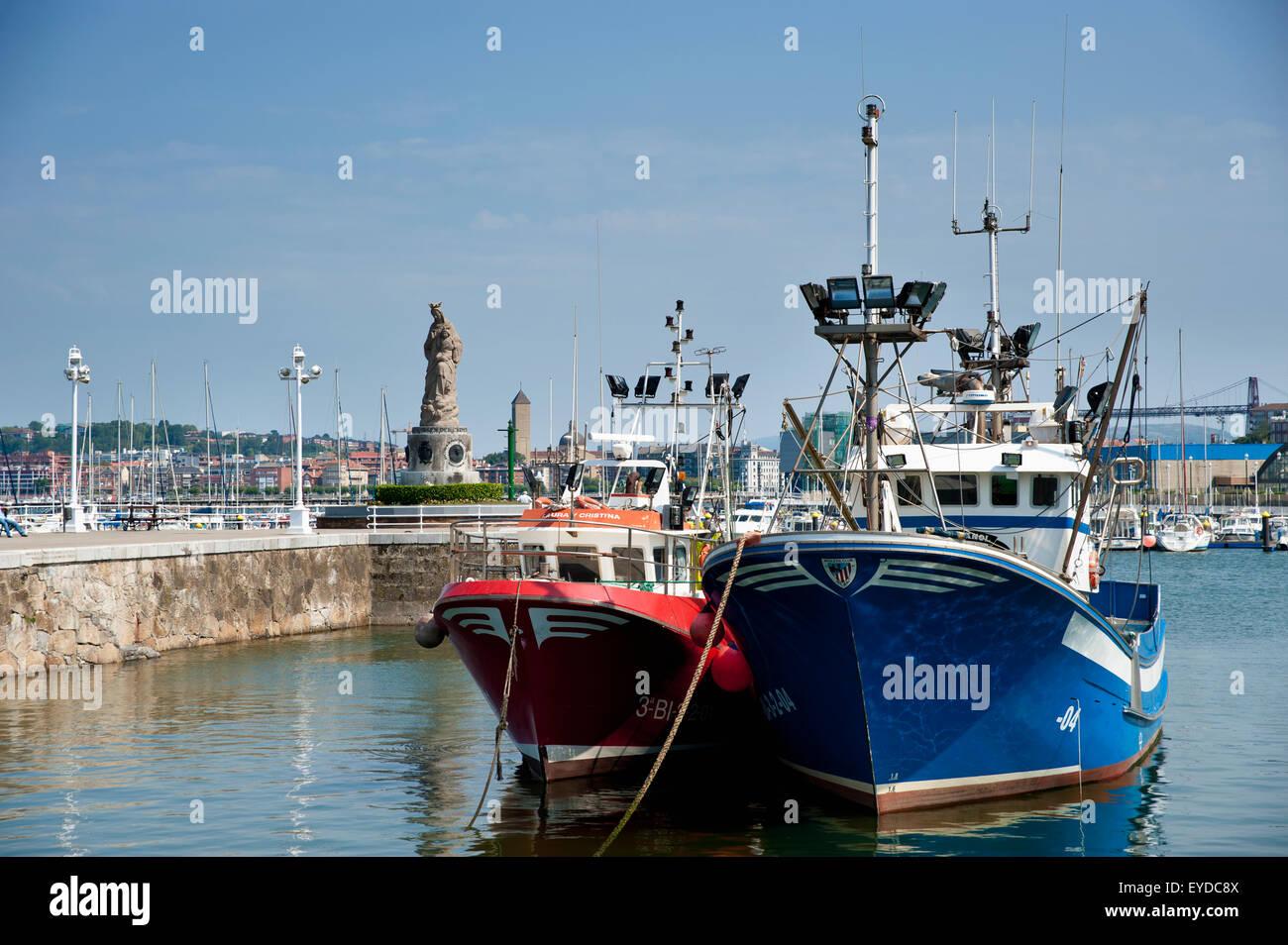 Santurce's Harbor, Santurtzi, Basque Country, Spain - Stock Image
