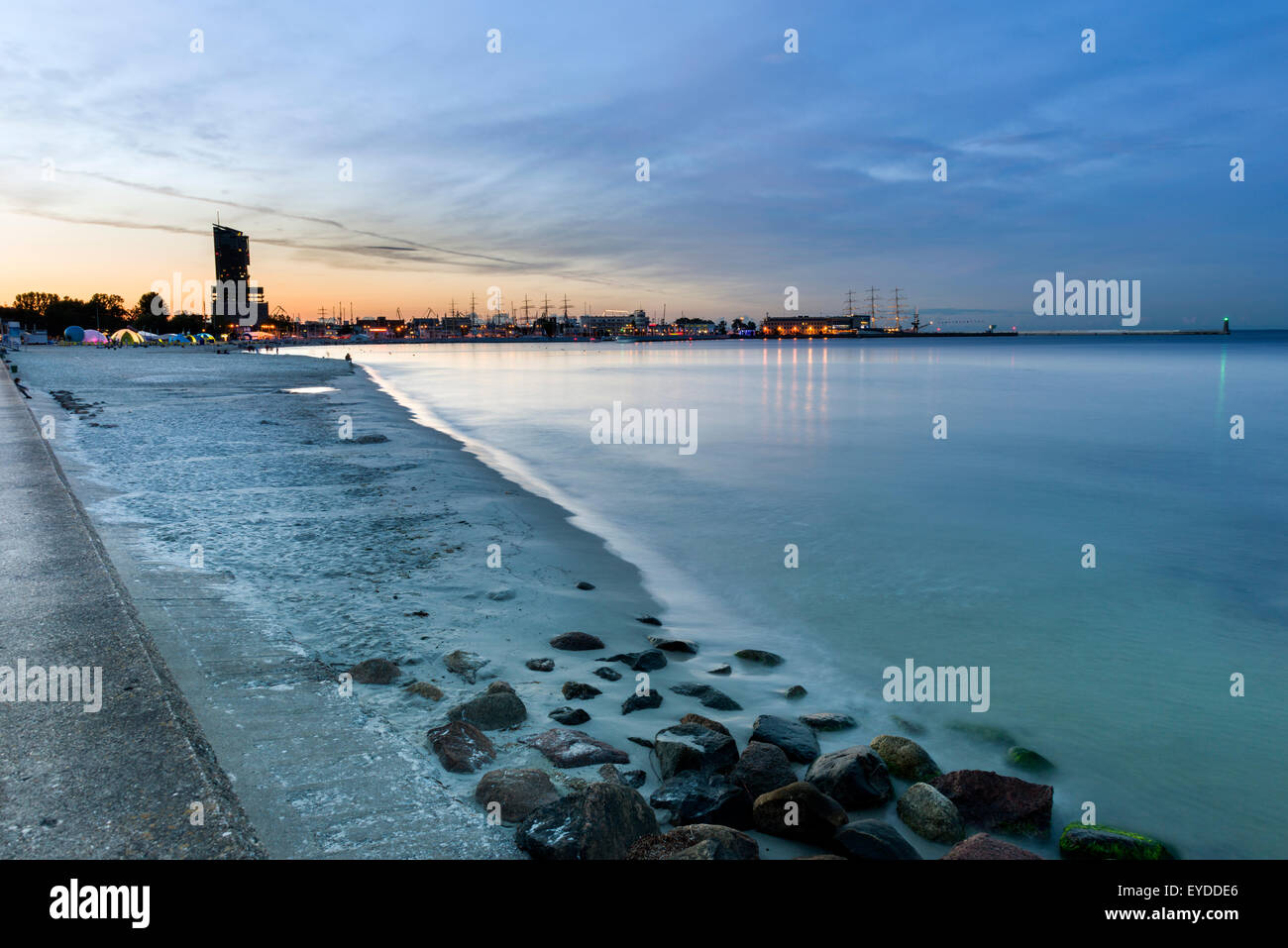 Marina in Gdynia city on the Baltic seaside Stock Photo