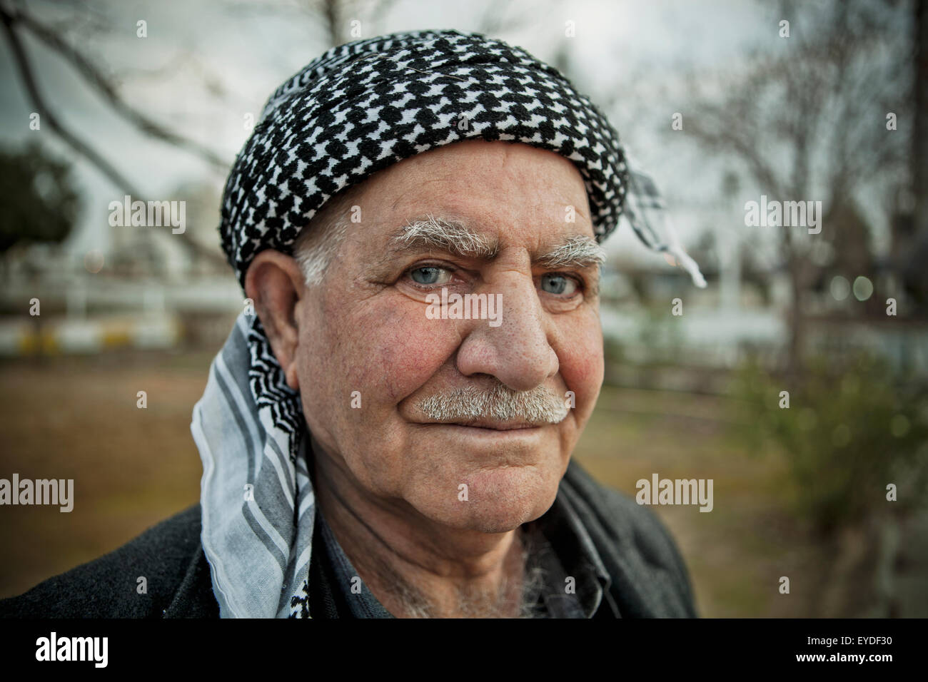 Portrait Of Kurdish Man, Sulaymaniyah, Iraqi Kurdistan, Iraq Stock Photo