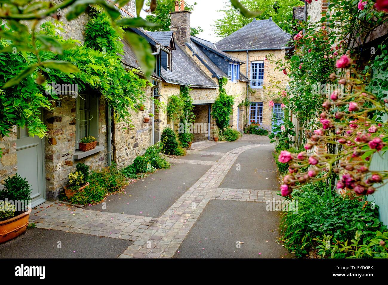 The Picturesque Village Of Sainte Suzanne, Pays De La Loire, France   Stock