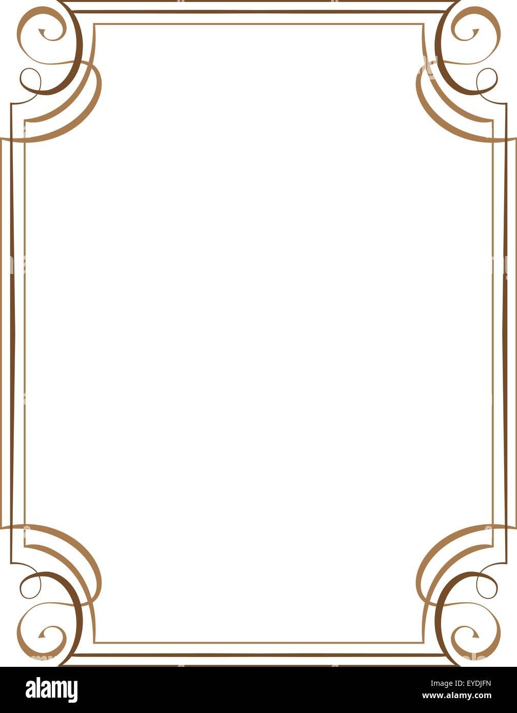 vector vertical frame. Element for graphic design Stock Vector Art ...
