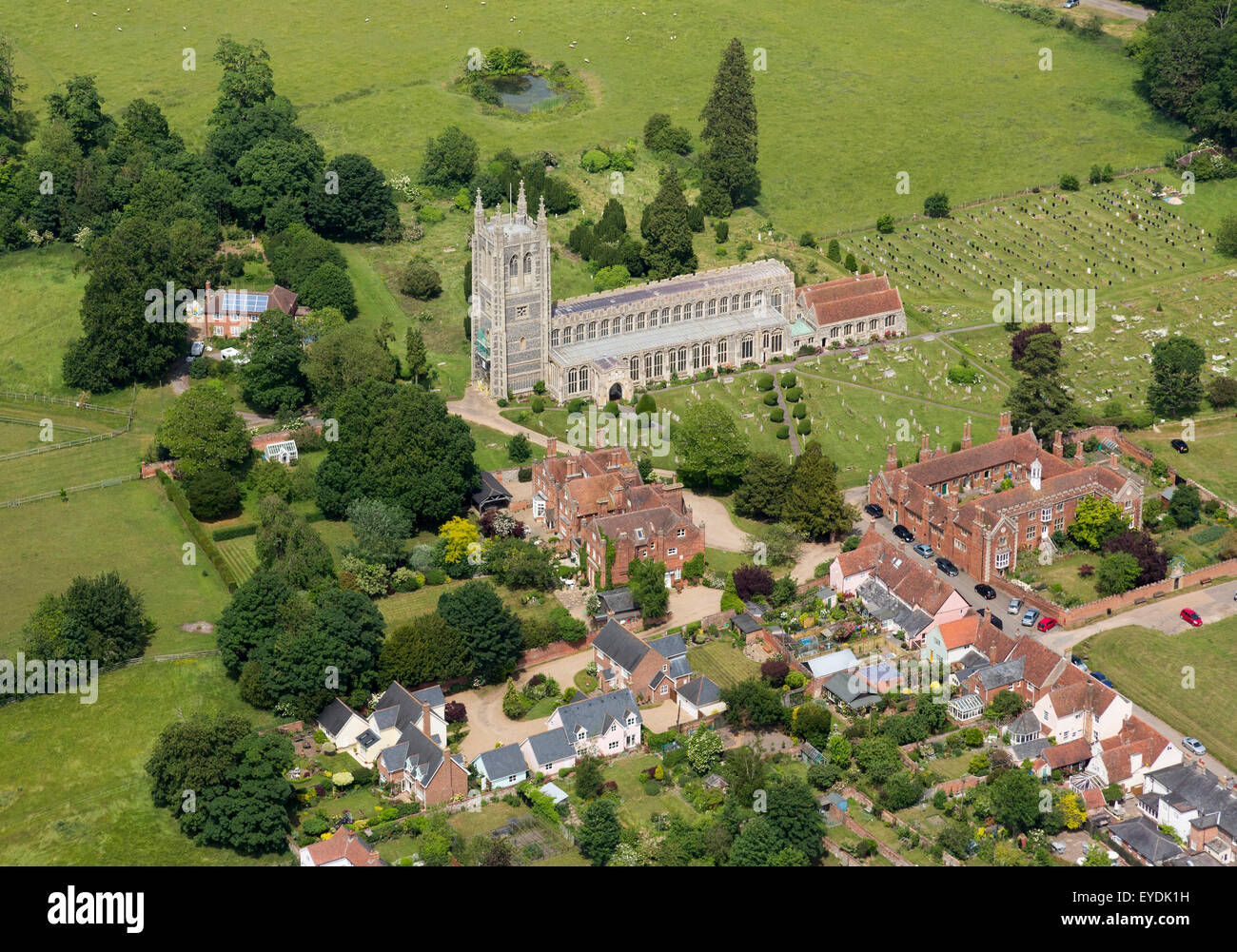 Holy Trinity Church in Long Melford village in Suffolk, UK - Stock Image