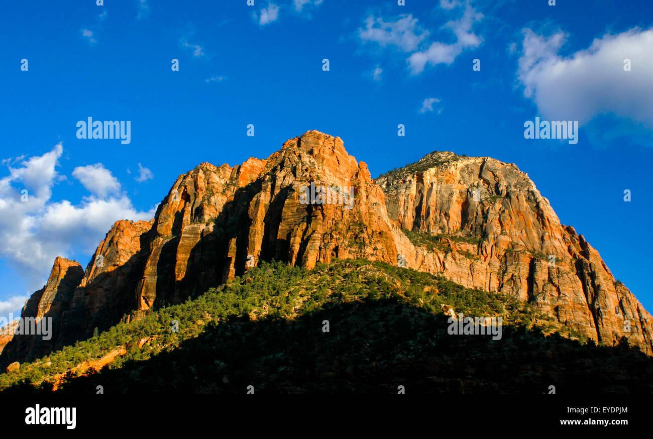 Impressive mountain in Zion National Park, Utah - Stock Image