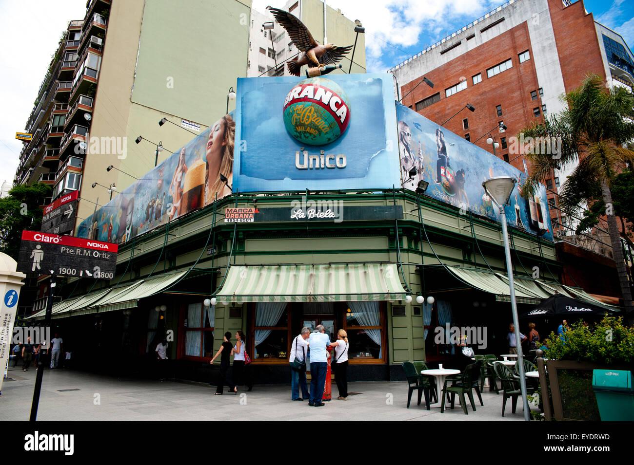Cafe La Biela, Recoleta, Buenos Aires, Argentina - Stock Image