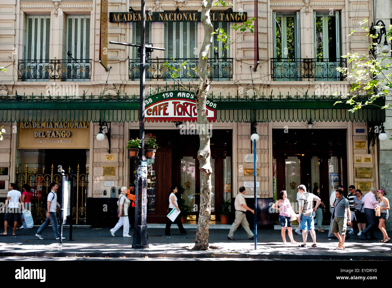 Famous Cafe Tortoni, The Oldest Cafe In Buenos Aires, San Nicolas, Buenos Aires, Argentina Stock Photo