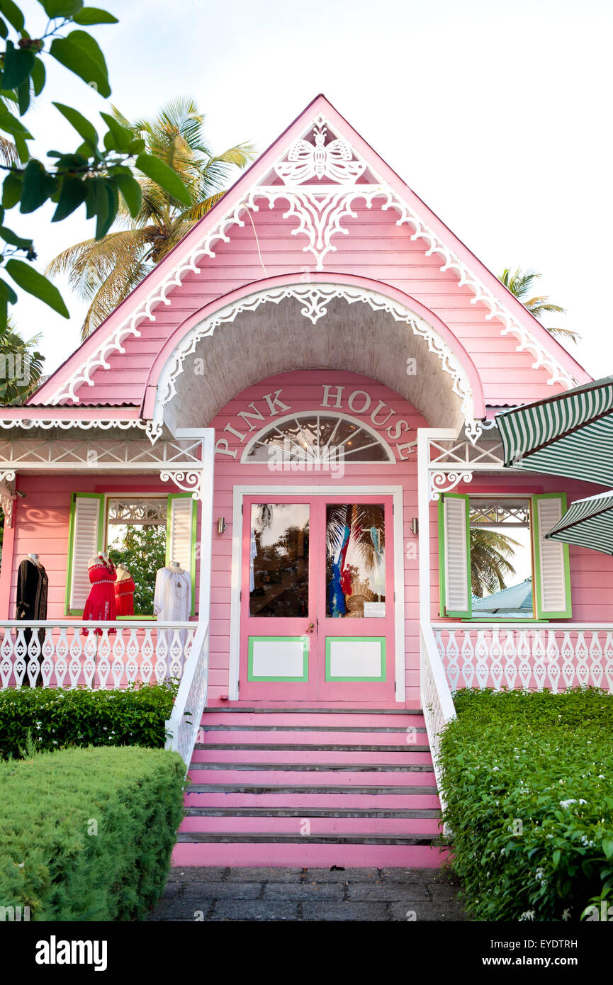 Exterior Pink Gingerbread House In Stock Photos & Exterior Pink ...