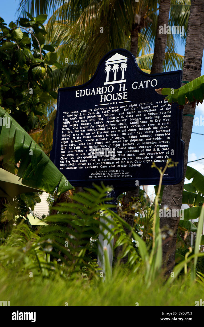 EDUARDO H. GATO HOUSE  This house, with its elaborate Queen Anne style detailing, was built c. 1894 by E. H. Gato, - Stock Image