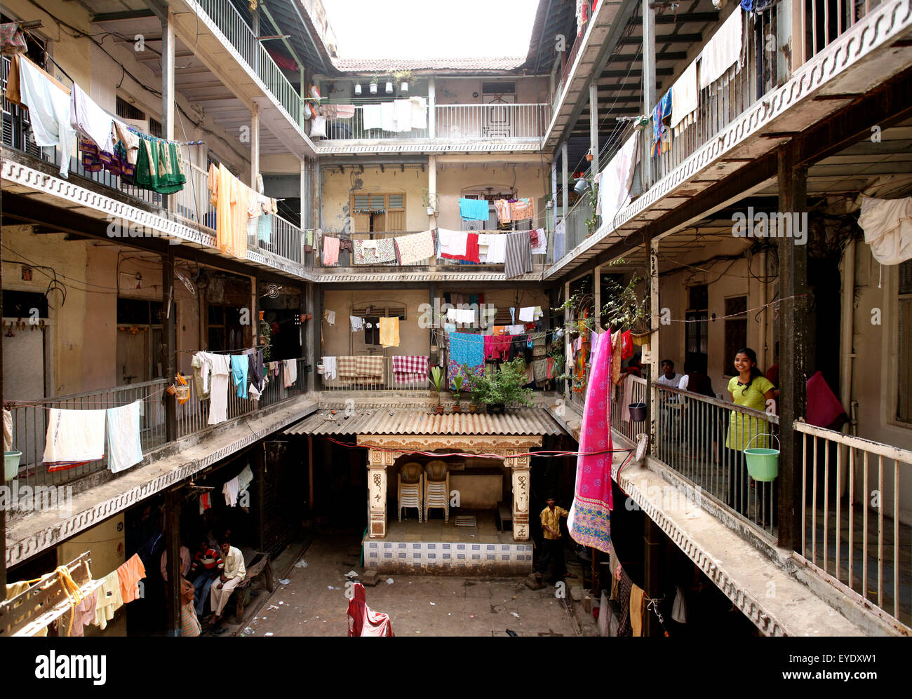 Chawl Housing In The Mill District Mumbai India Stock