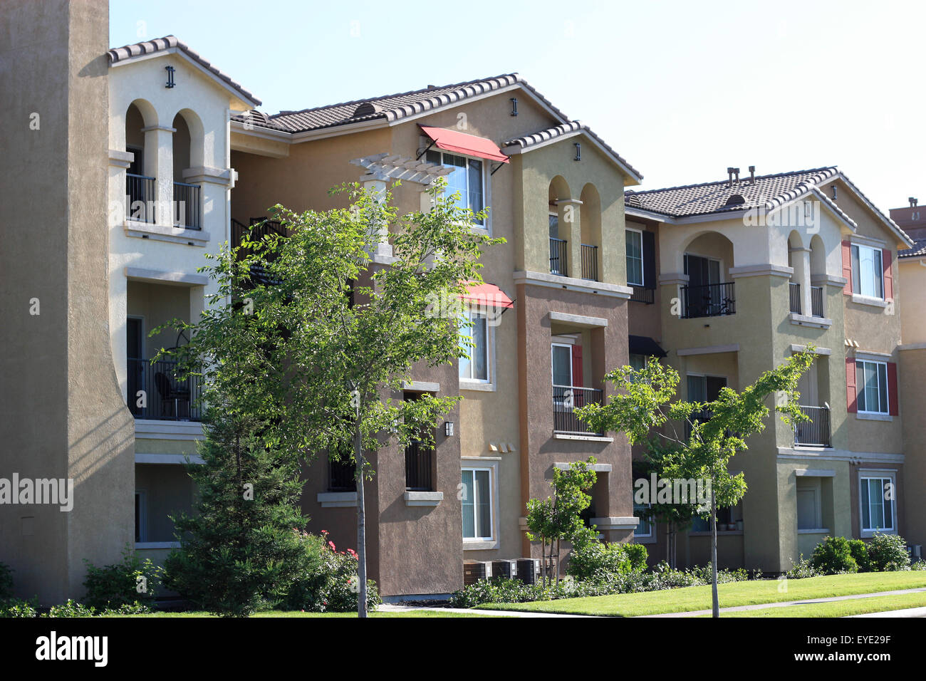 Modern apartment complex - Stock Image