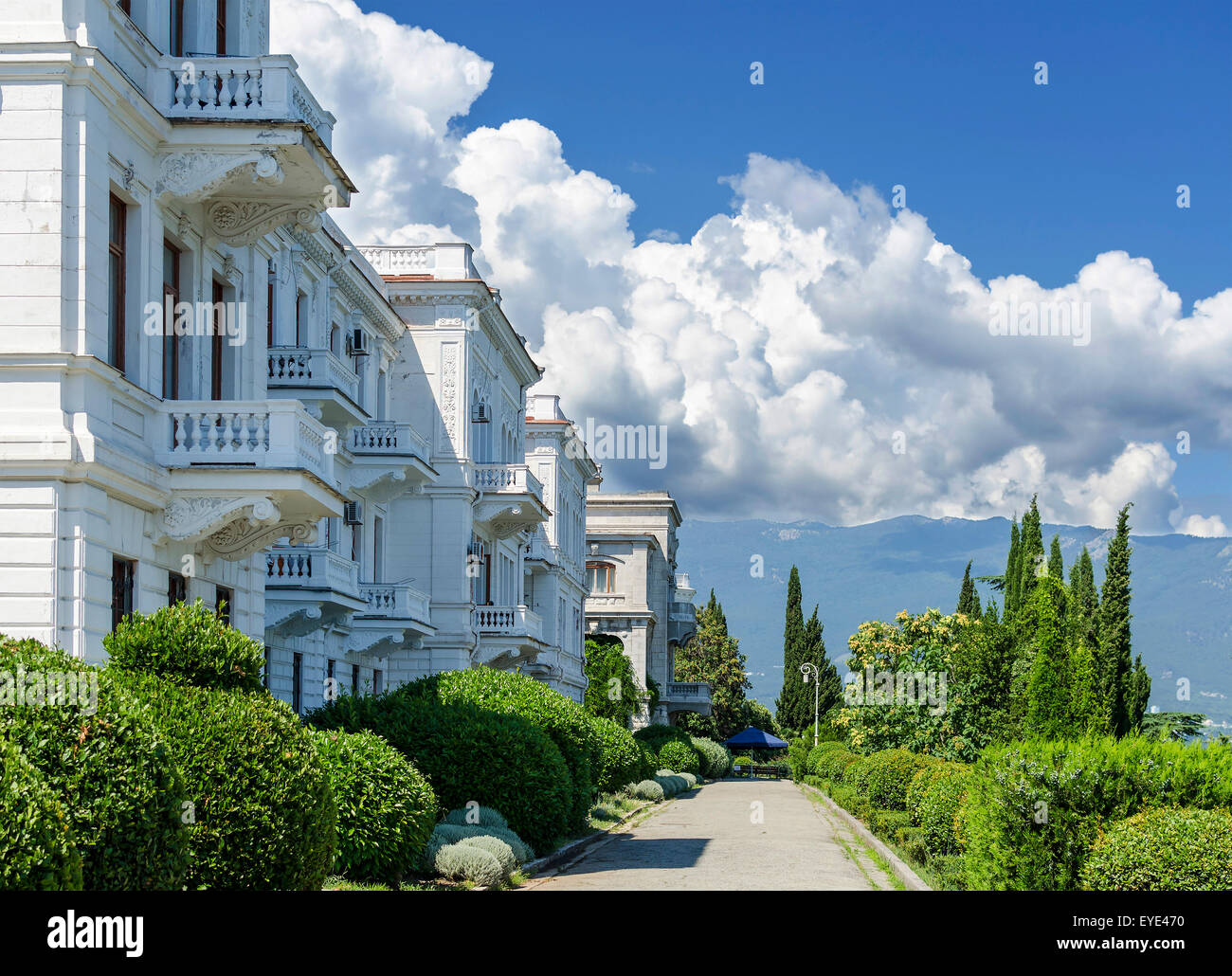 Livadia Palace (summer retreat of the last Russian tsar, Nicholas II, Crimea, Ukraine).  Built in 1911 by architect - Stock Image