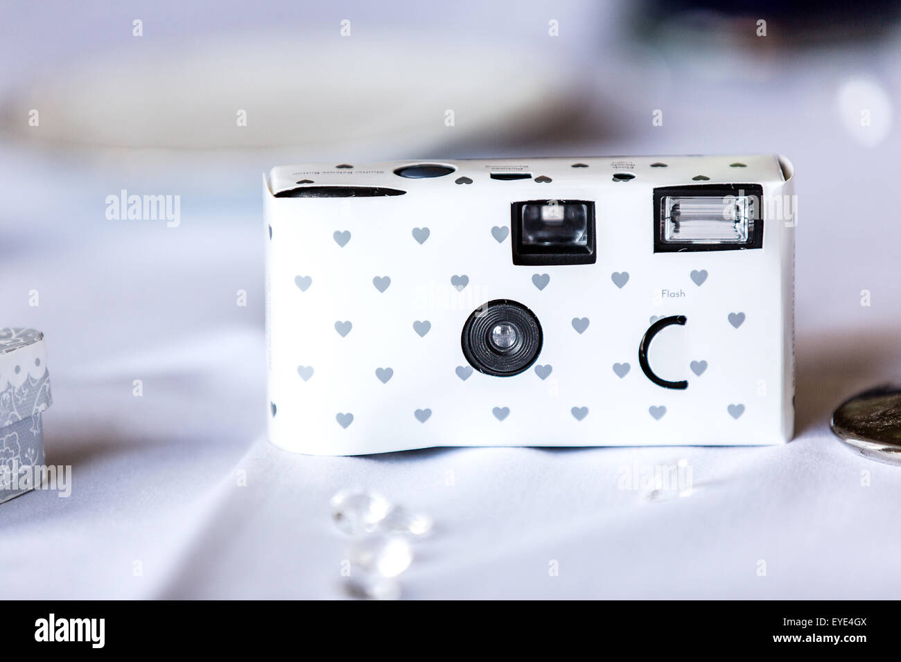 A Working Cardboard Disposable Camera Placed On A Guests Reception