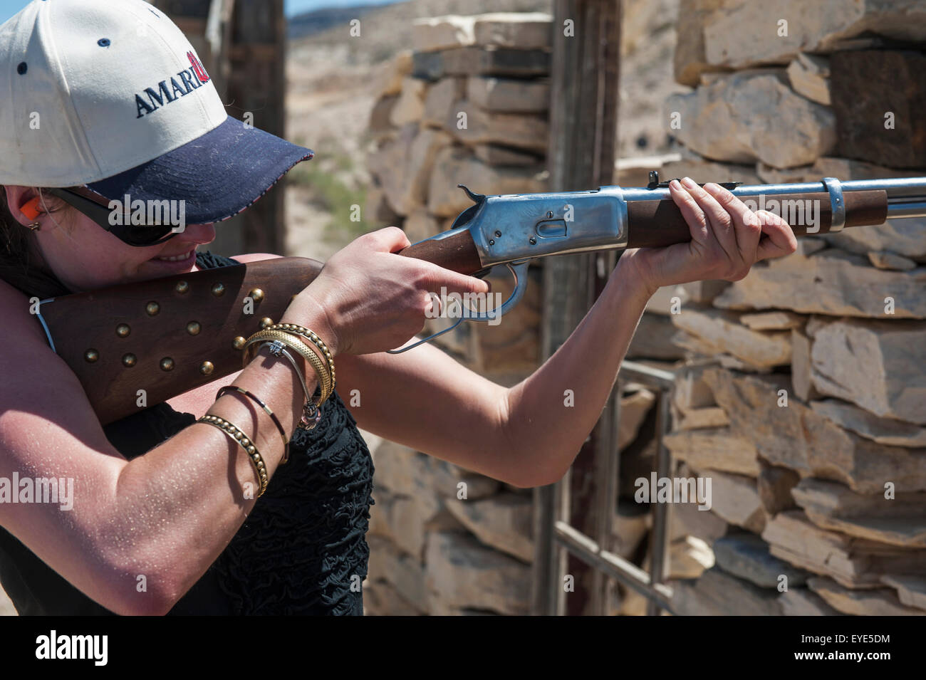 Accuracy,Aiming,America,Big Bend - Stock Image