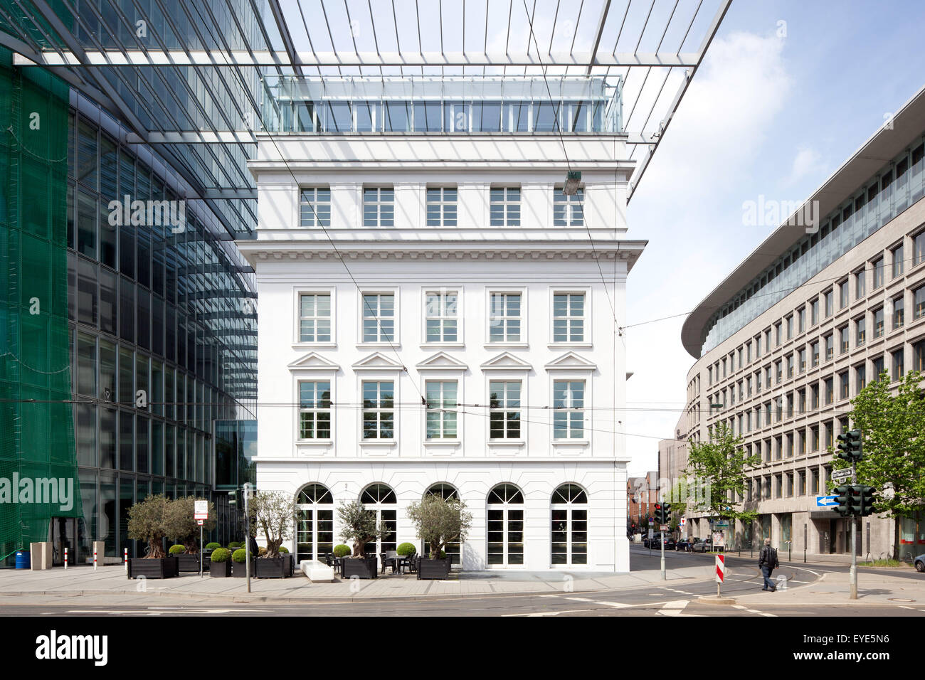 GAP 15 office tower, Düsseldorf, Rhineland, North Rhine-Westphalia, Germany - Stock Image
