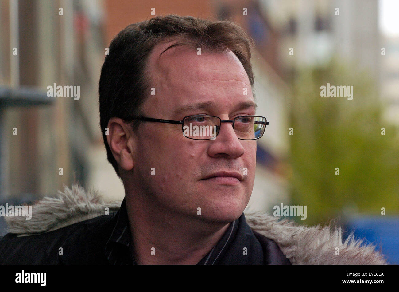 8ef00f4a85 Writer Russell T Davies at the Celtic Film Festival in Cardiff. - Stock  Image