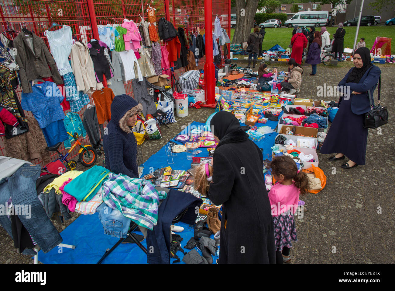 second hand market in the Netherlands - Stock Image