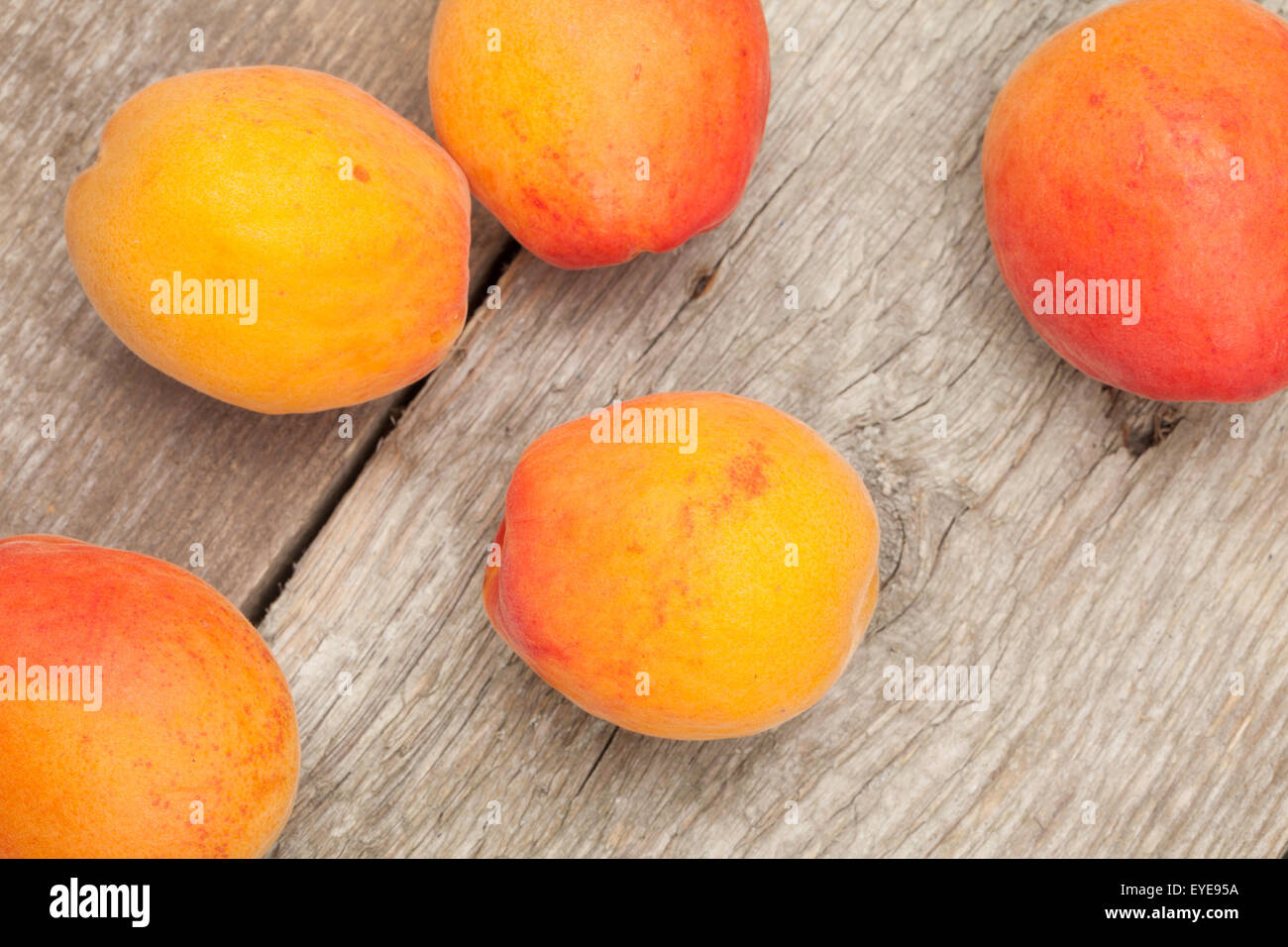 Fresh apricot fruits. - Stock Image
