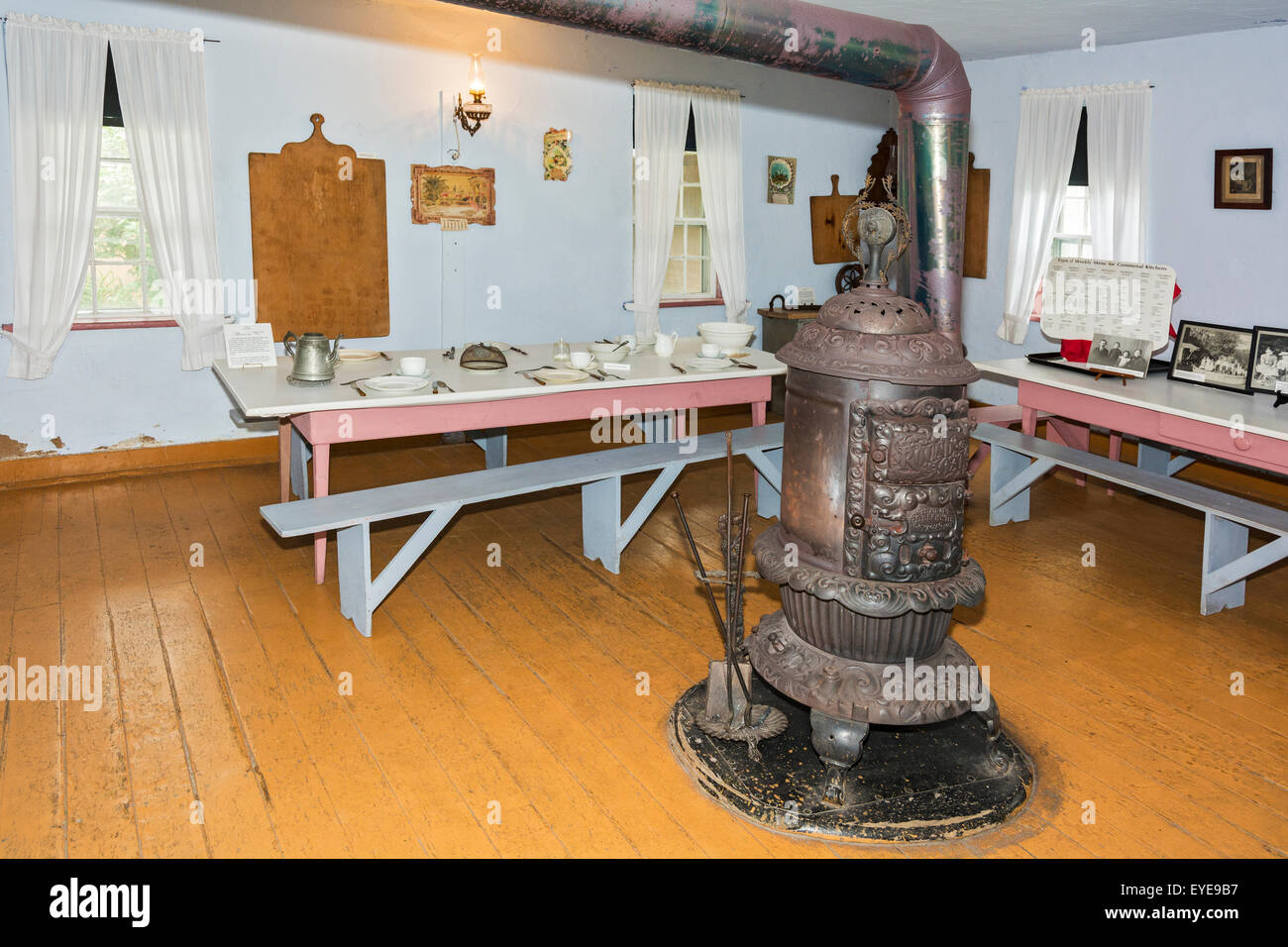 Iowa, Amana Colonies, Middle Amana, Communal Kitchen, operated 1863-1932, preserved circa 1932 - Stock Image