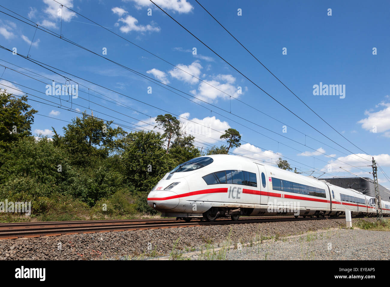 German high speed Intercity Express train - Stock Image