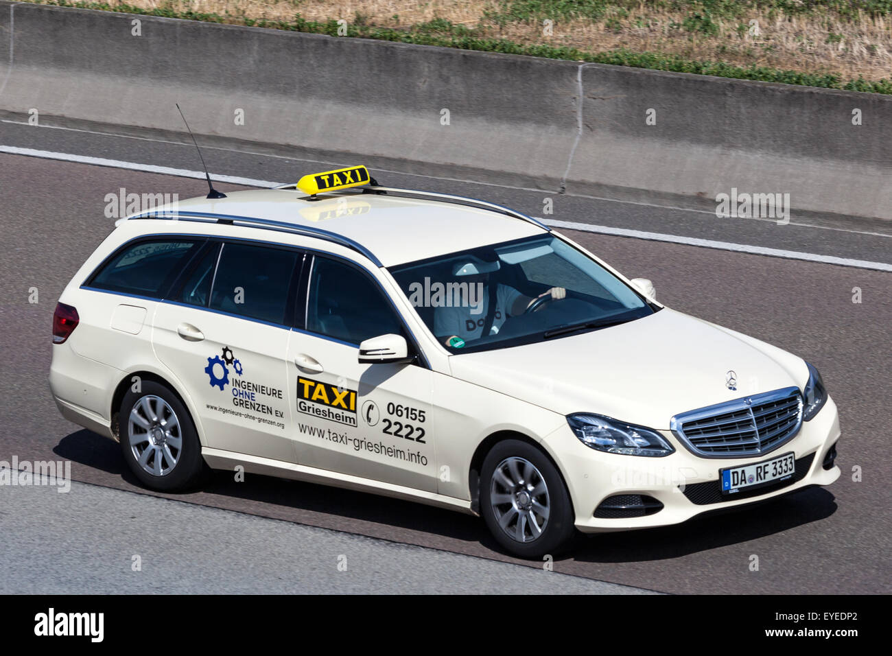 mercedes benz w212 station wagon taxi moving fast on the highway a5 stock photo 85755322 alamy. Black Bedroom Furniture Sets. Home Design Ideas