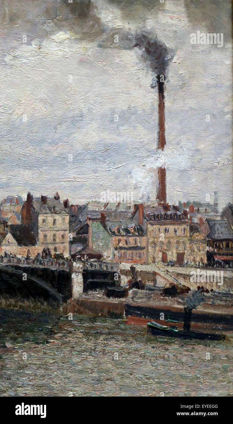 Camille Pissarro (1830-1903). French painter. Morning, And Overcast Day, Rouen, 1896. Oil on canvas. Metropolitan Stock Photo
