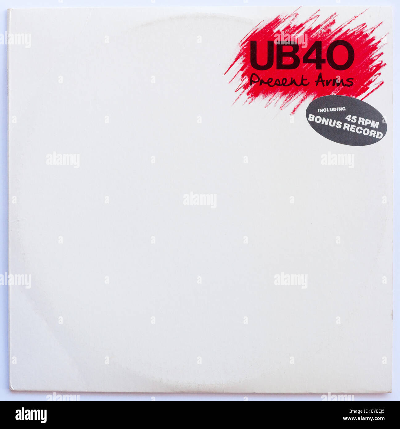 Cover of UB40, Present Arms, 1981 album on DEP Records - Stock Image