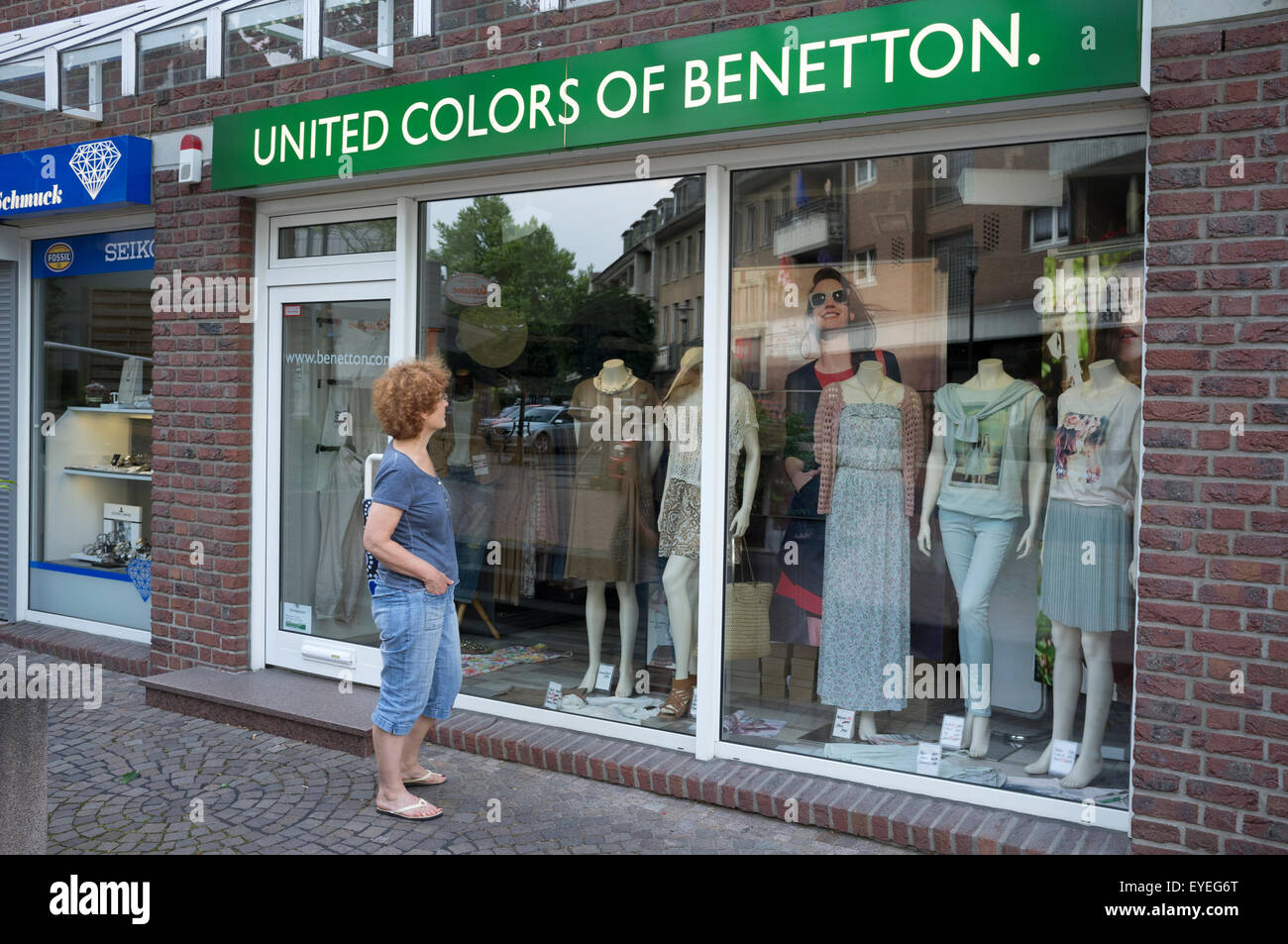 United colors of Benetton clothes shop - Stock Image
