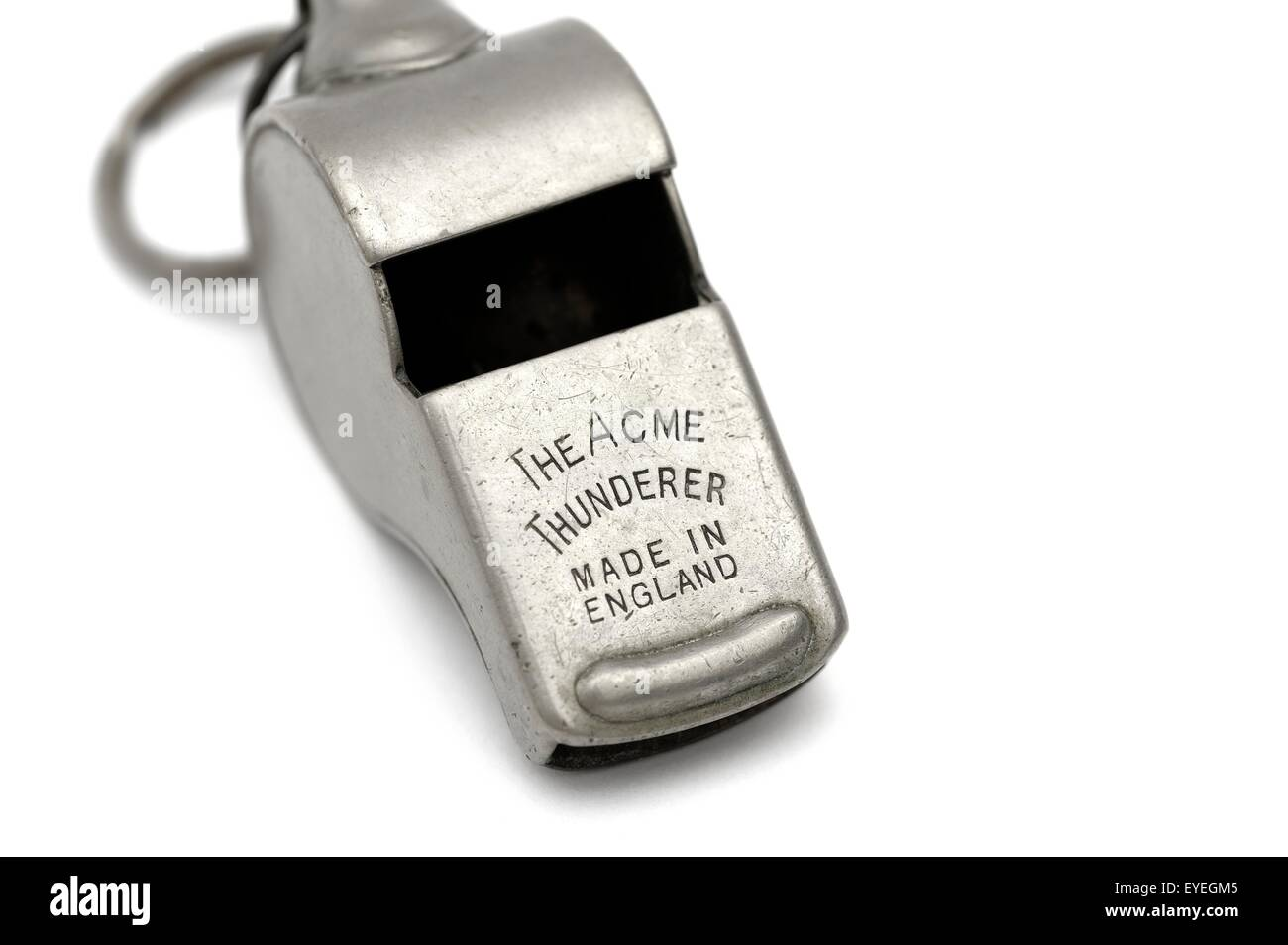 The acme thunderer whistle made in England. - Stock Image