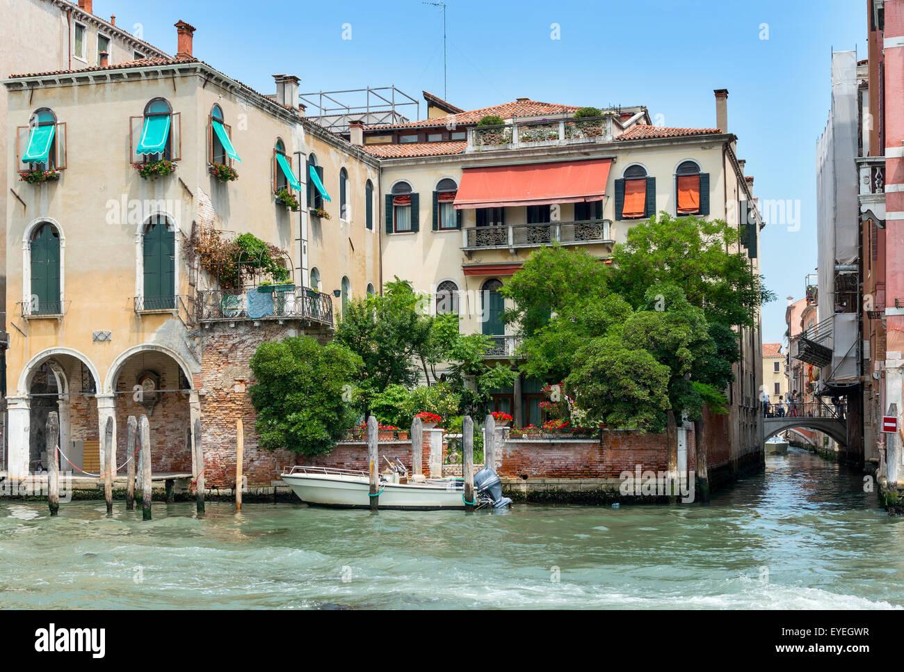 View of the Grand Canal, Venice, Veneto Region, Italy Stock Photo
