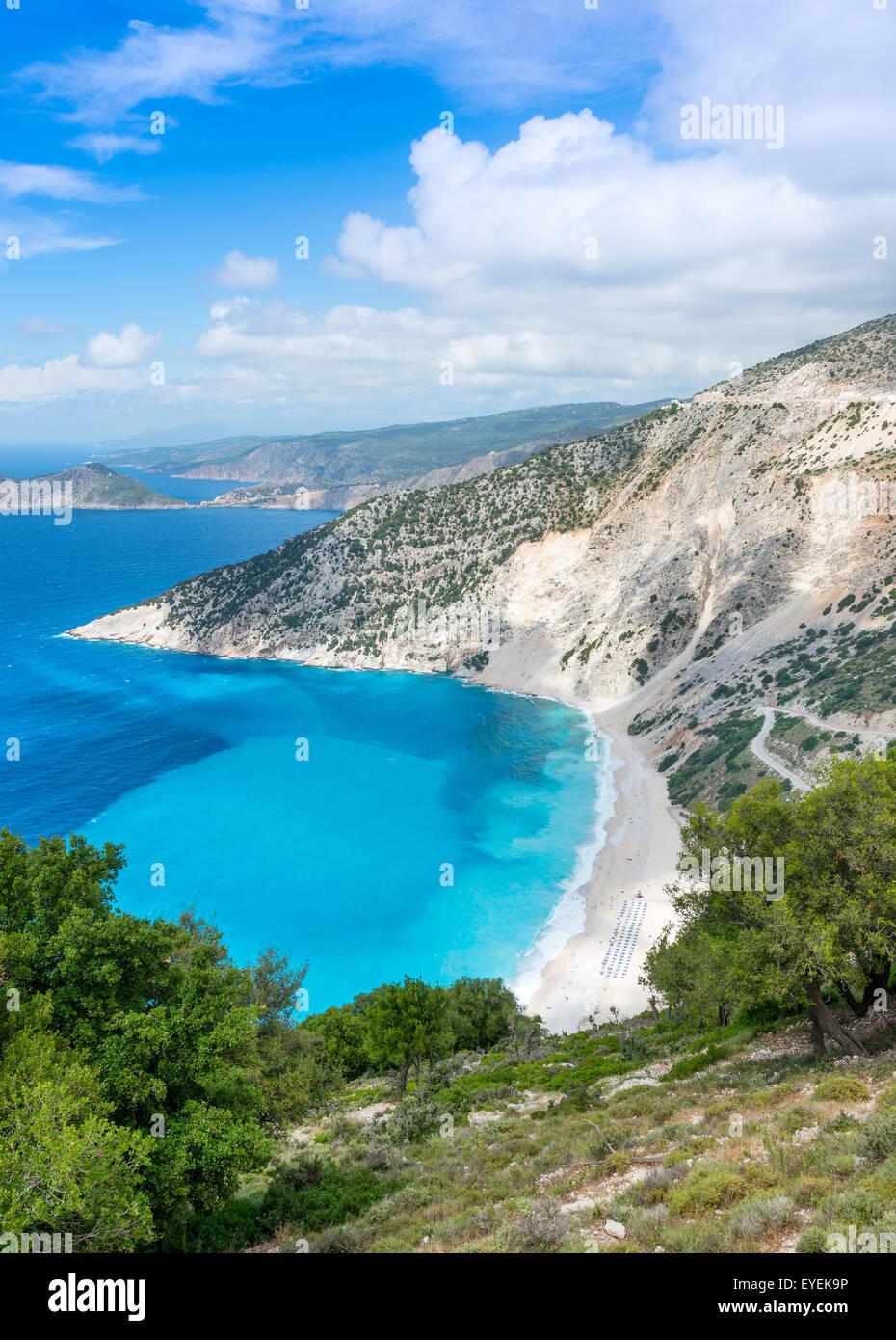 Myrtos Beach, Kefalonia Island, Ionian Sea, Greece Stock Photo