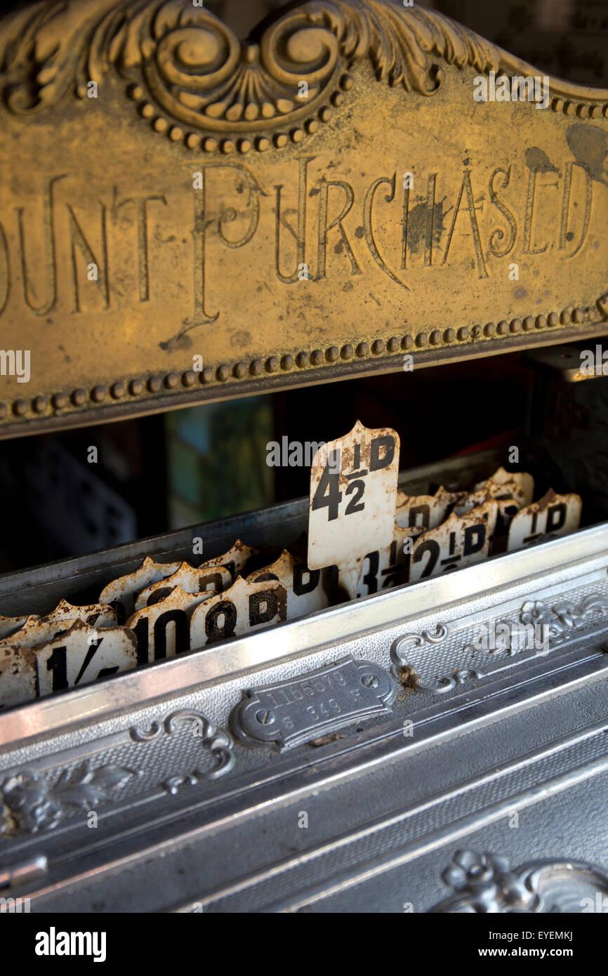 Old Vintage cash till register - Stock Image