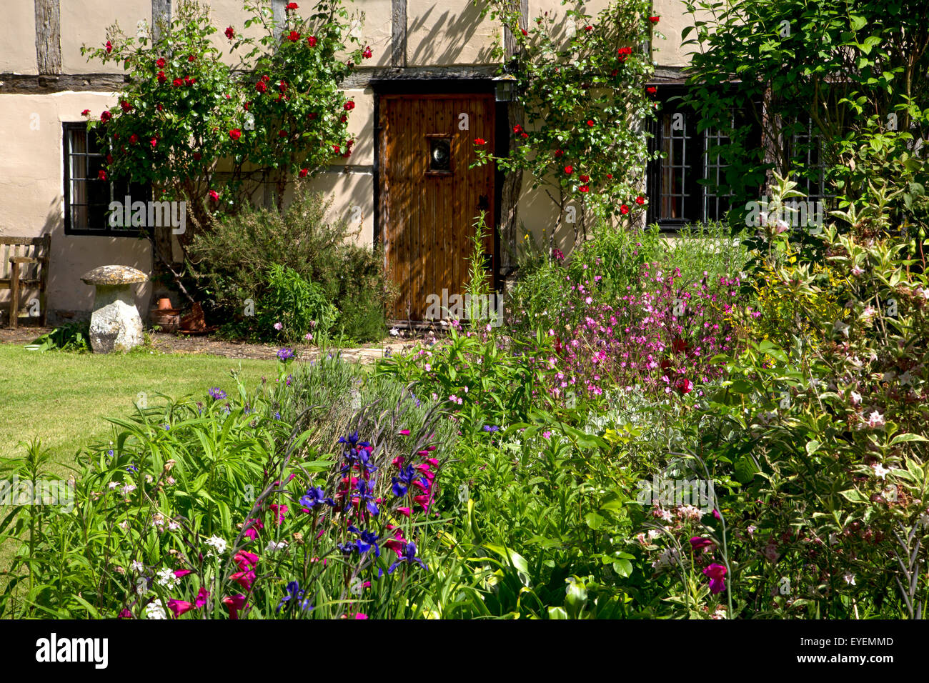 Terrific Old English Manor House With Summer Flower Boarder Stock Download Free Architecture Designs Rallybritishbridgeorg