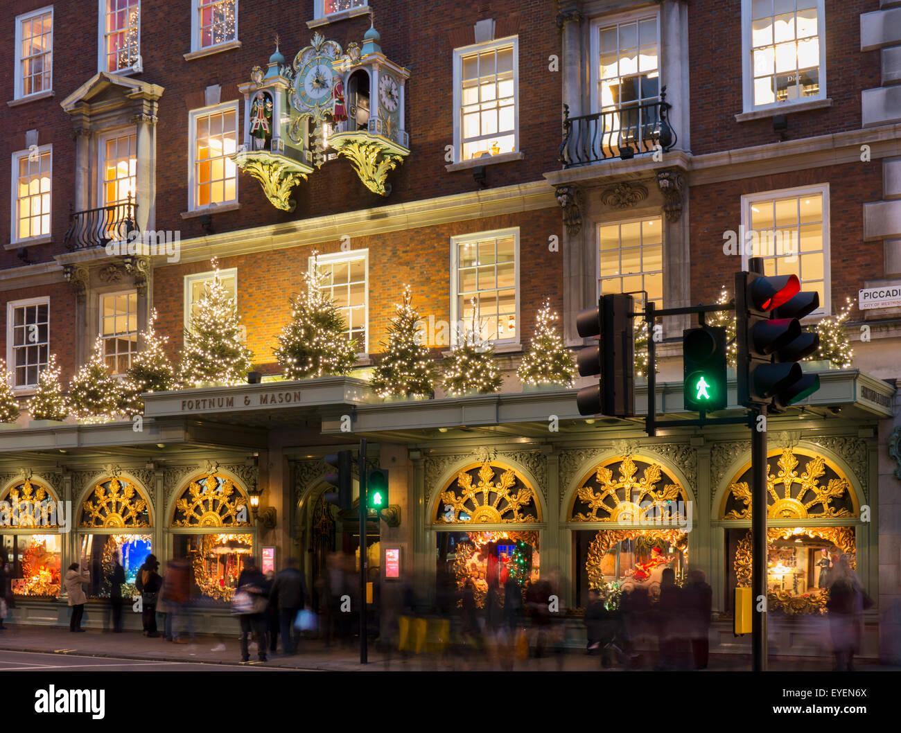 Fortnum and Mason clock; London, England Stock Photo