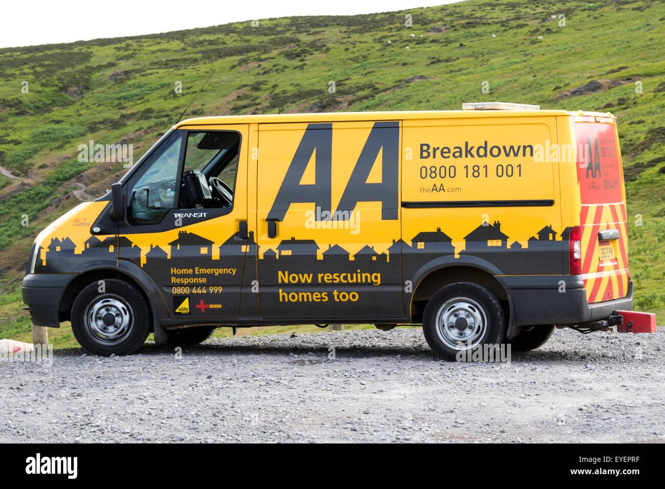 AA breakdown vehicle, England, UK - Stock Image