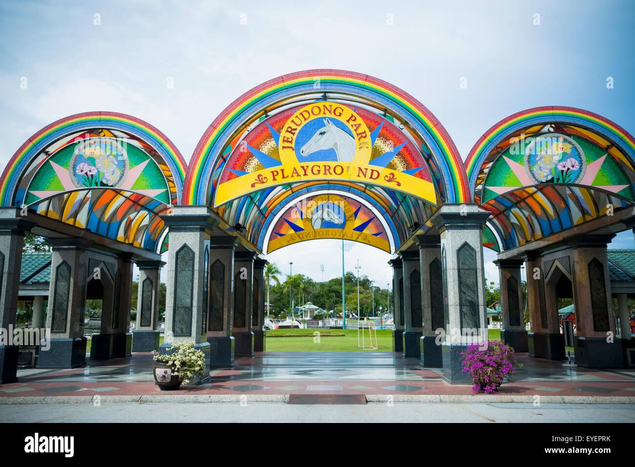 Entrance to Jerudong Park; Bandar Seri Begawan, Brunei - Stock Image