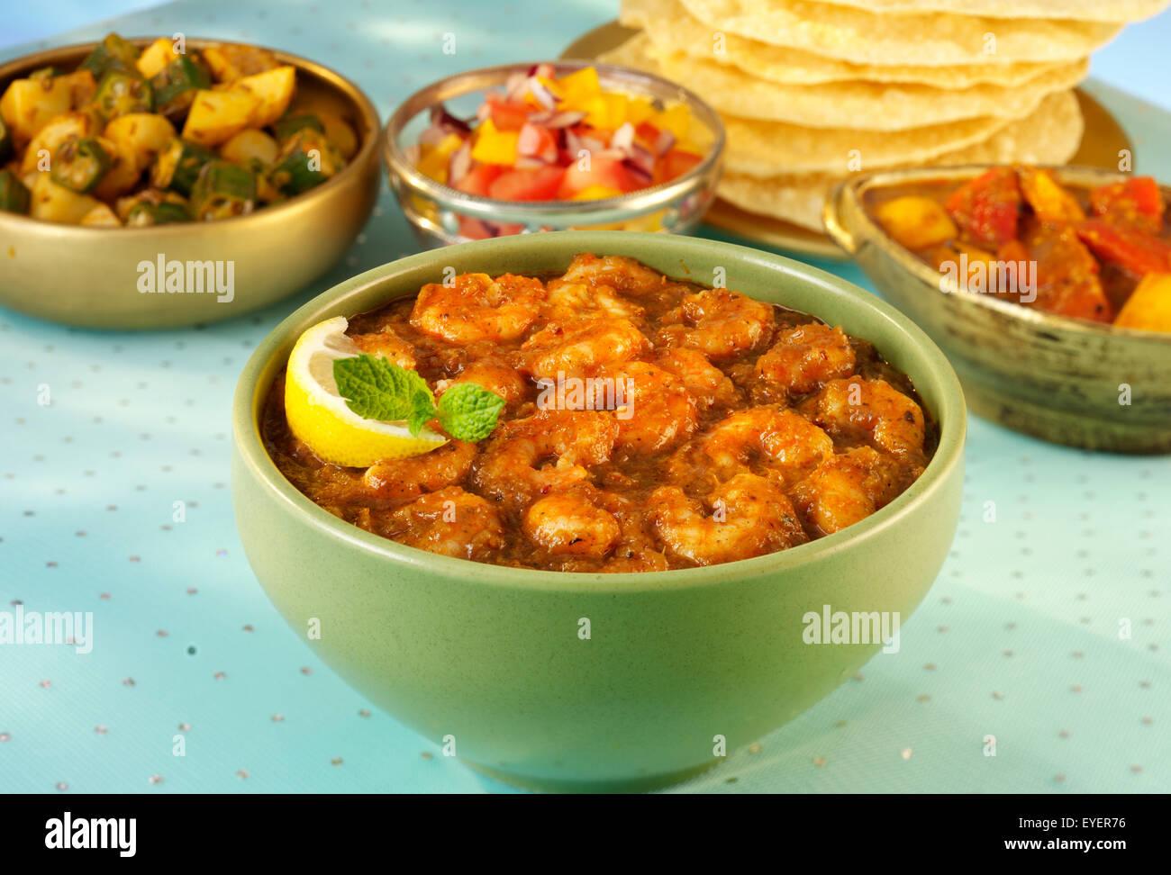 INDIAN KASHMIRI PRAWN/SHRIMP SEAFOOD CURRY - Stock Image
