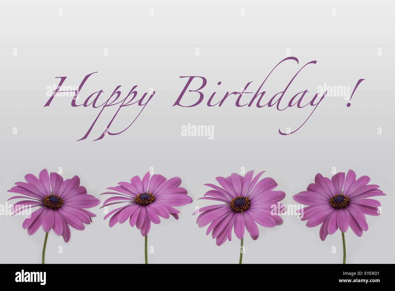 Happy birthday text flowers stock photos happy birthday text happy birthday flowers stock image izmirmasajfo