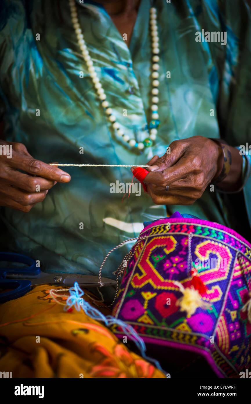 Basket weaving; Timor-Leste - Stock Image